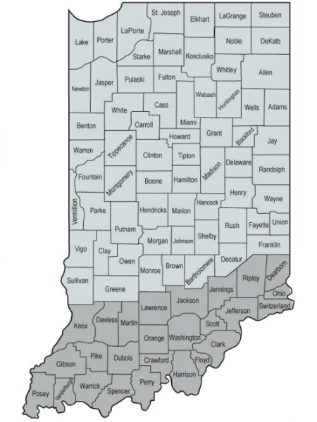 CountyMap-Indiana