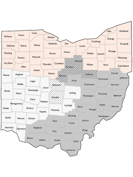 CountyMap-Ohio