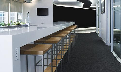 Counter Seating Area In An Office. Over 50 More High Quality Photos Of Office Interiors, Meeting Rooms, Building Lobbies, And Waiting Areas: